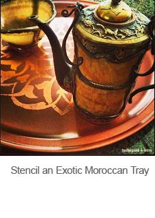 DIY Stencil an Exotic Moroccan Tray