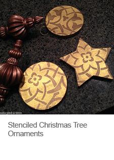 DIY Stenciled Christmas Tree Ornaments