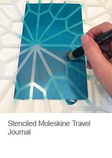 DIY Stenciled Moleskine Travel Journal