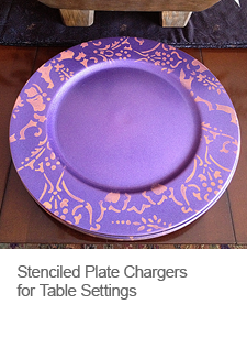 DIY Stenciled Plate Chargers