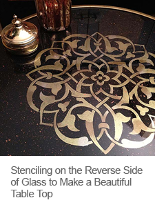 DIY Stenciling on Reverse Side of Glass