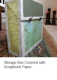 DIY Storage Box Covered with Scrapbook Paper