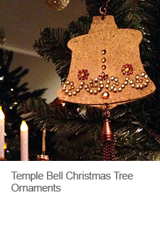 DIY Temple Bell Christmas Tree Ornaments