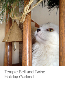 DIY Temple Bell and Twine Holiday Garland