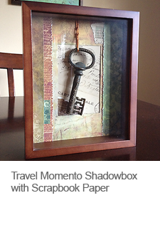 DIY Travel Momento Shadowbox with Scrapbook Paper