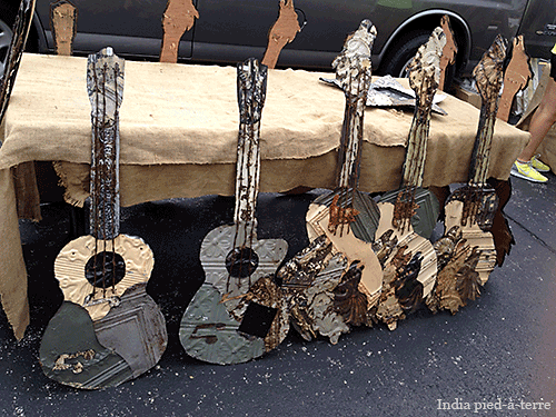Ceiling Tile Guitars at Randolph Street Market