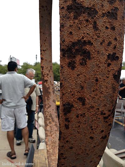 Rust Texture on Hoop at Randolph Street Market