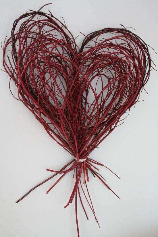 Branch Heart via Blue Velvet Chair