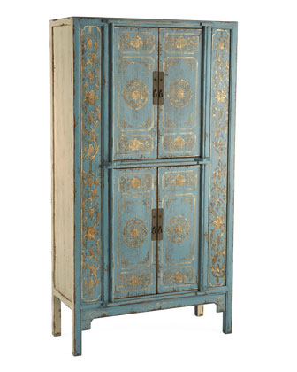 Horchow Double Lotus Cabinet