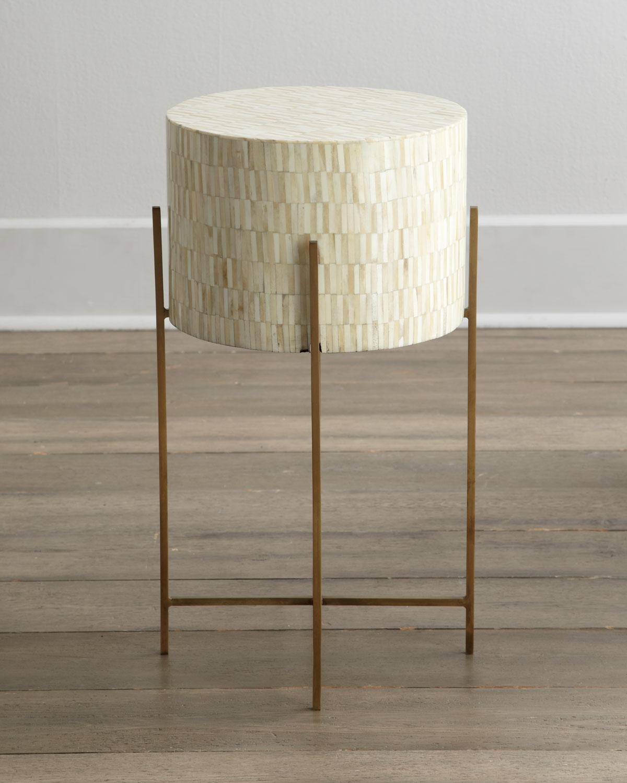 Horchow Mesita Drum Table