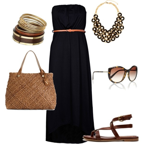 How to Wear Black in the Summer via Polyvore
