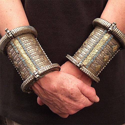 Antique-Cuffs-from-Uzbekistan-at-Maison-Halter-Ethnics