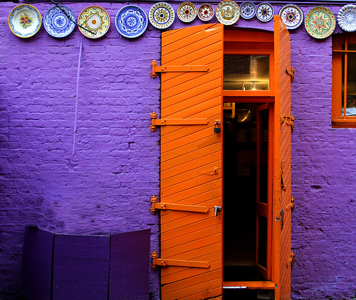 Colorful Funky Door by Andrea Kennard