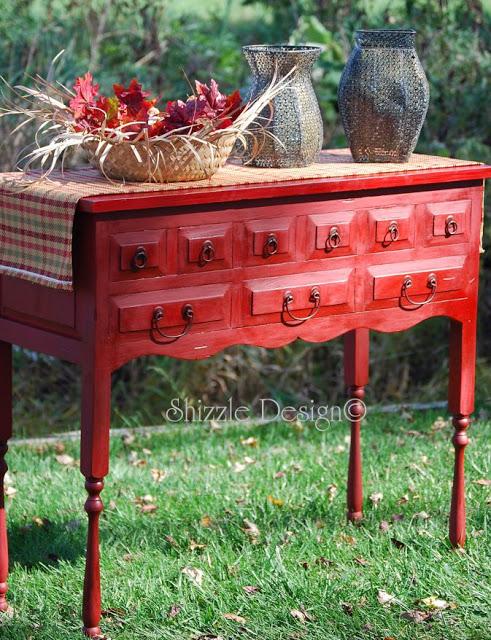 Shizzle Design Emperor's Silk Chalk Paint Cabinet