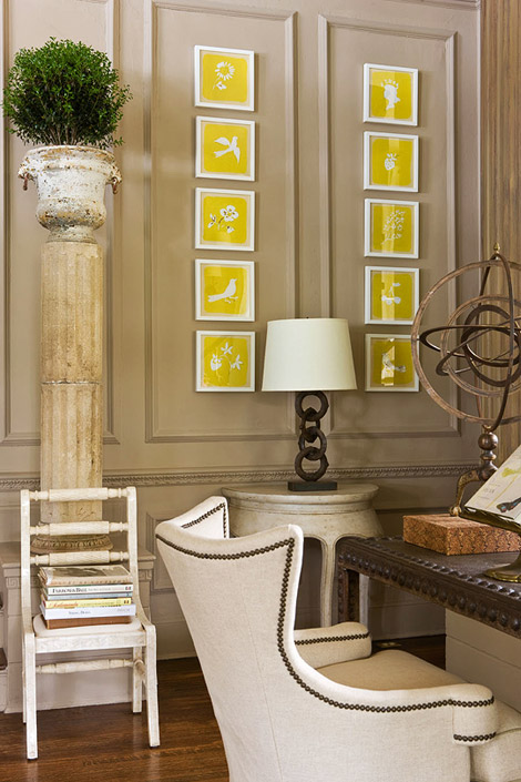 Chartreuse Accent at Traditional Home