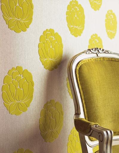 Chartreuse Wallpaper via Design Milk