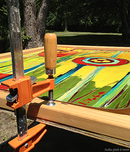 Gluing-Frame-to-Plywood