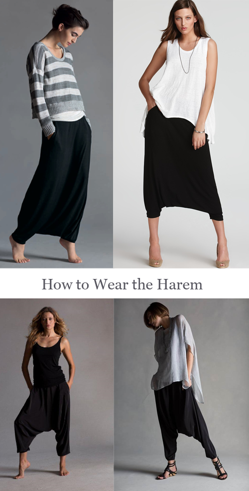How-to-Wear-the-Eileen-Fisher-Black-Harem-Pant