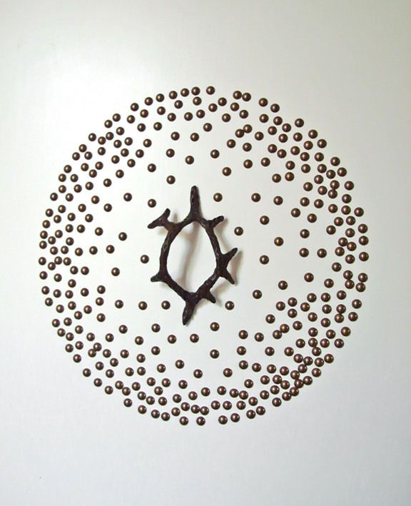 Circle Scattering of Upholstery Nail Heads by Ashley Hicks