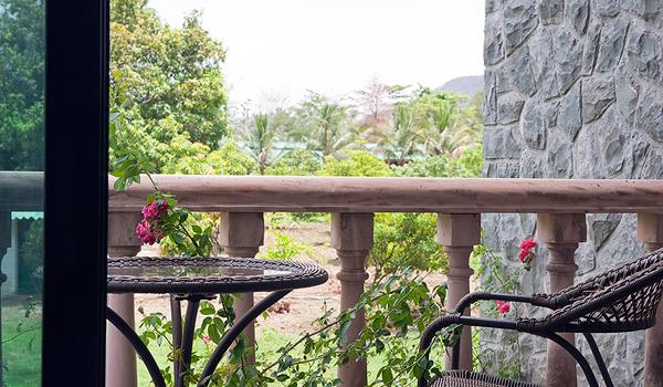 Balcony at Country Estate Home via Saffronart Prime Properties