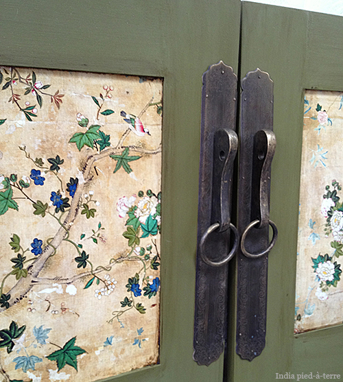 Chinese Hardware Attached to Cabinet Doors