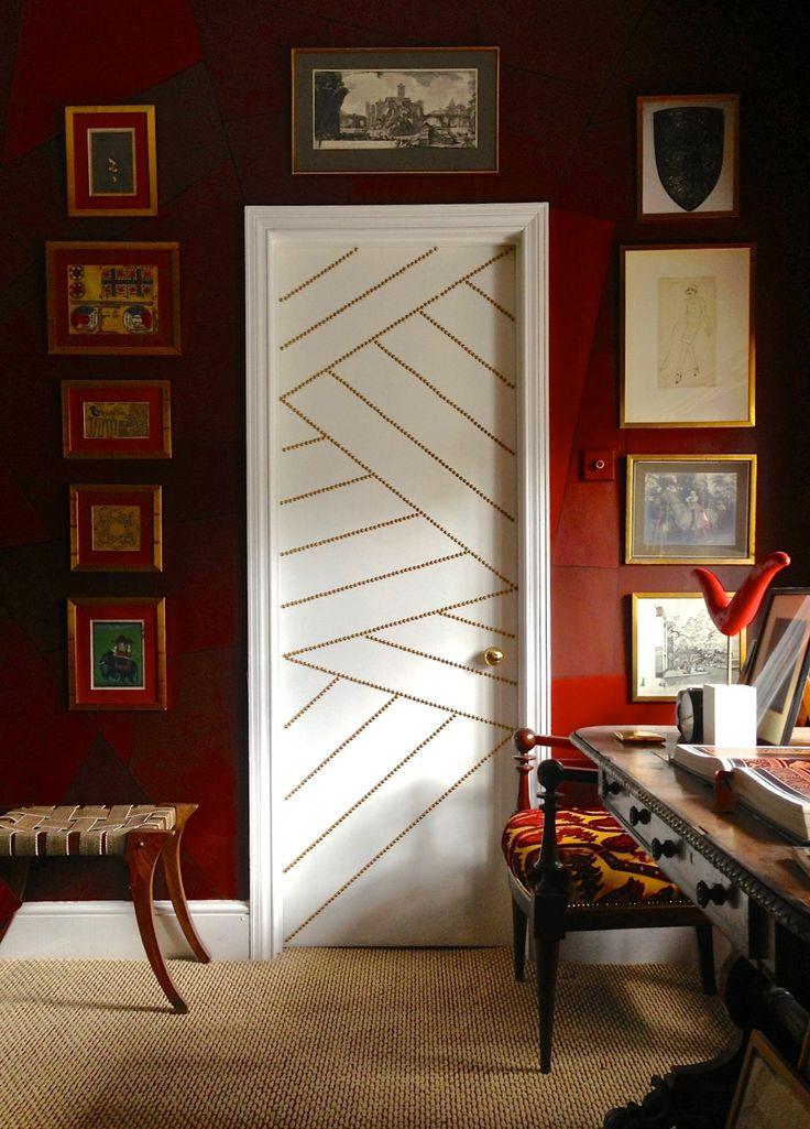 Door with Nail Head Trim