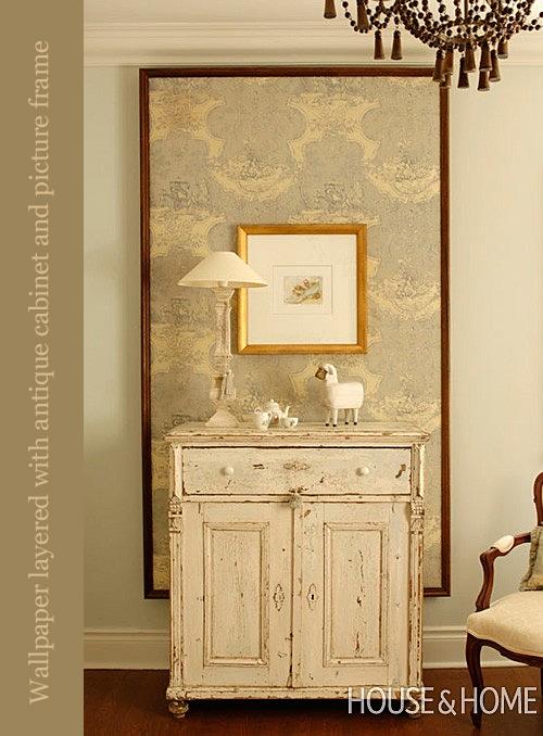 Framed Wallpaper via Canadian House & Home