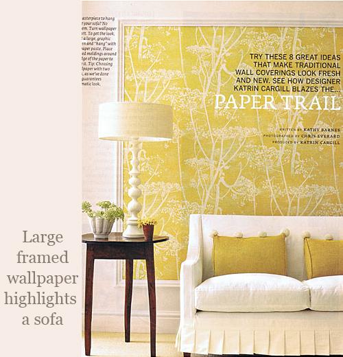 Framed Wallpaper via Country Home