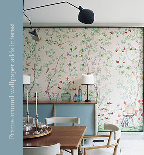 Laura Vinroot Poole House Framed de Gournay Wallpaper