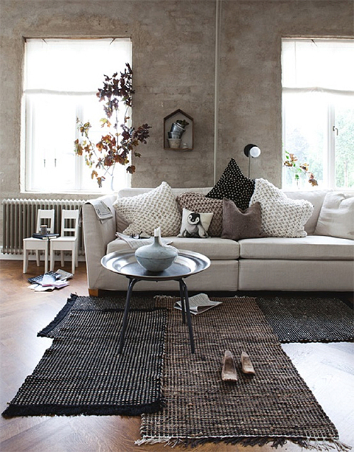 Layered Neutral Rugs