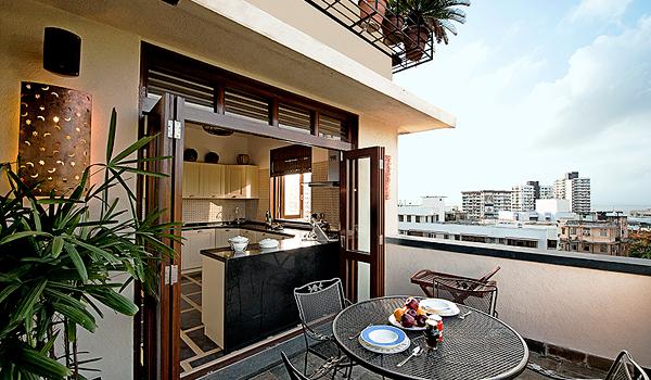 Mumbai Terrace Apartment Kitchen via Saffronart Prime Properties