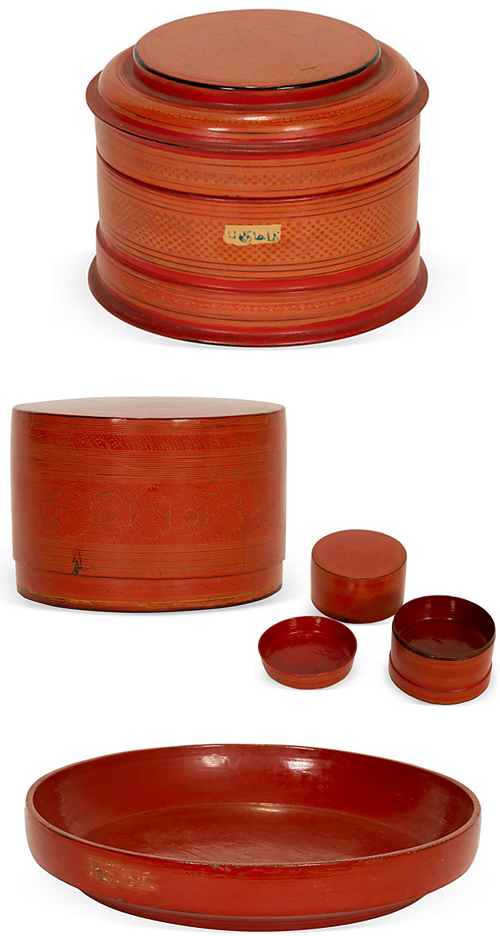 Red Lacquerware from South India