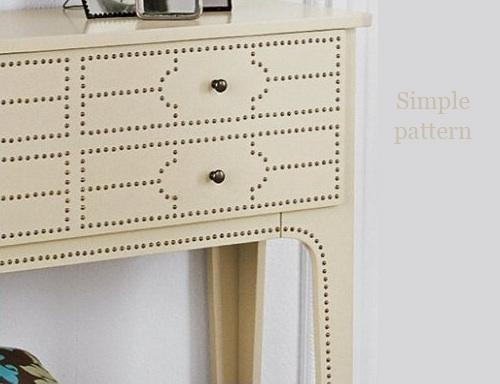 Simple Nail Head Trim Pattern