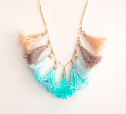 Tassel Necklace at Etsy Shop ayofemijewelry