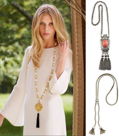 Tassel Necklaces at House of Lavande