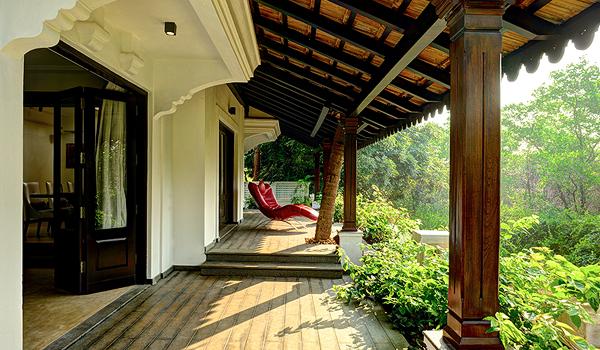 Veranda with a View in Goa via Saffron Art Prime Properties