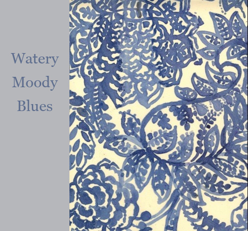 Blue Fabric Print via Luli Sanchez