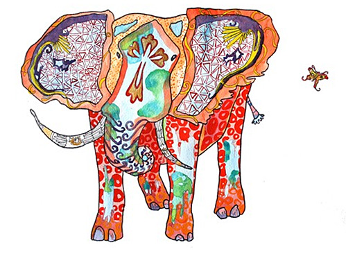 Elephant Print by Nicole Kristiana on Etsy