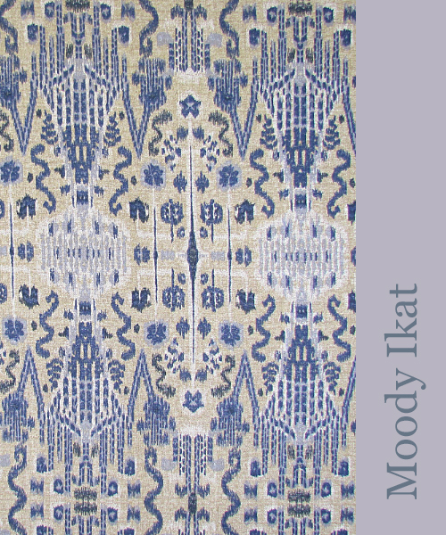 Blue Ikat at Lacefield Designs