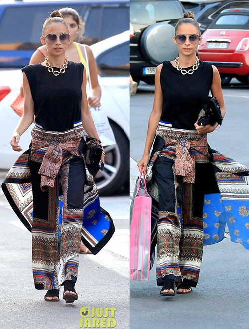 Nicole Richie in Sari Skirt