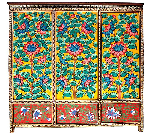 Painted Tibetan Cabinet from Baronet 4 Tibet