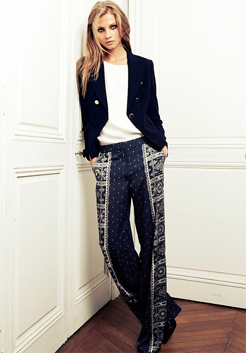Patterned Pants from  Mango