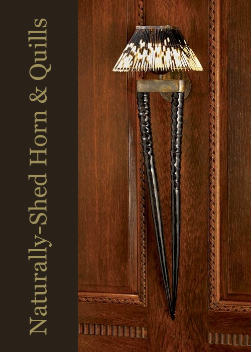 Porcupine Quill and Horn Sconce via The Source Collection