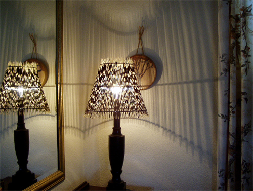 Porcupine Quill Lampshade from Exports from Africa