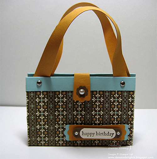Scrapbook Paper Purse by Danee's Stampin' Delights