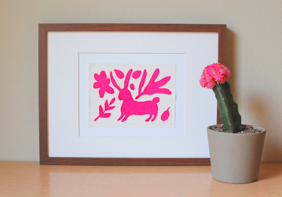 Silk-Screened Otomi from ScoutandLilly on Etsy