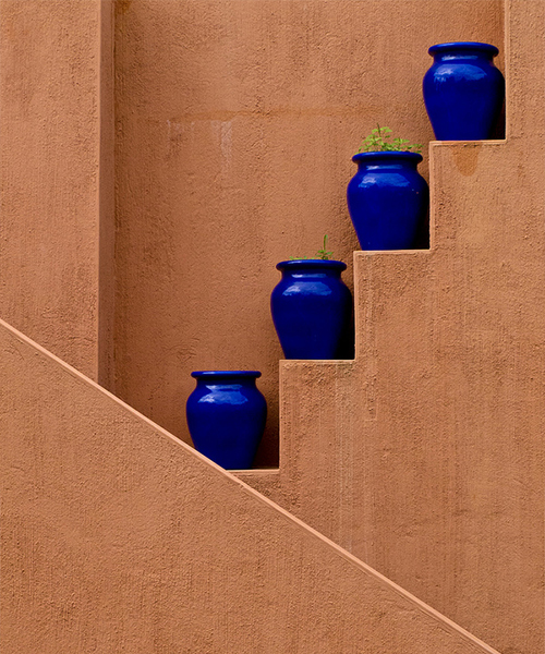 Blue Pots in Mauritius Photographed by Niranj Vaidyanathan on Flickr