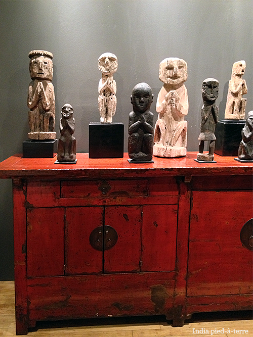 Chinese Hardware on Red Cabinet