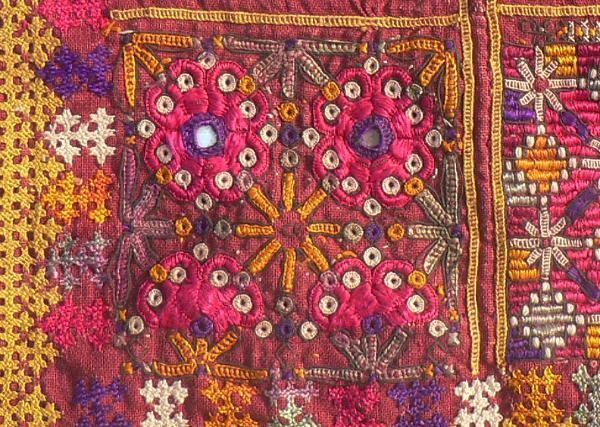 Kutchi Embroider Pillow from Banjara Textiles