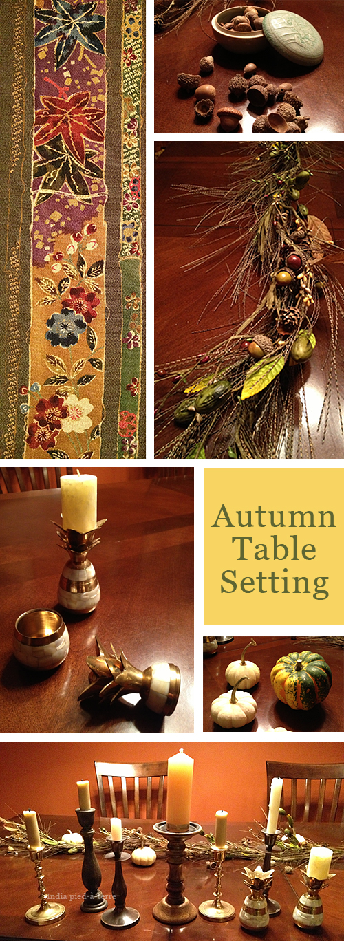 Autumn Table Centerpiece Ingredients